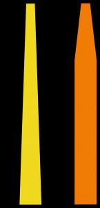 Kúpos és rakéta formájú zászlórudak